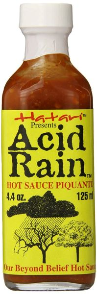 "Acid Rain Hot Sauce Piquante - (Three ""3"" Pack of 4.4 Oz. Bottles)"