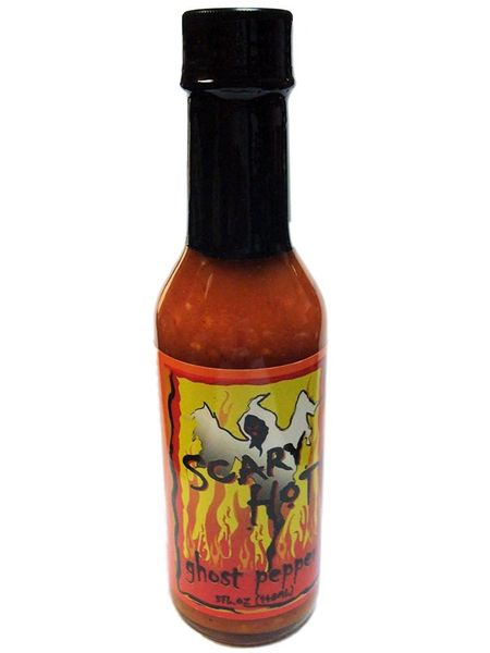 "Scary Hot Ghost Pepper Hot Sauce - (Three ""3"" Pack)"