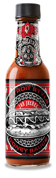 Jak Jeckel Pepper Sauce Detroit Style Coney Sauce - – (Single 5 Oz. Bottle)