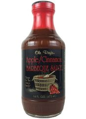 """Ole Ray's Apple/Cinnamon Barbeque Sauce - (TWO """"2"""" Pack of 16 Oz. Bottles)"""