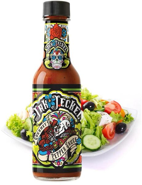 Jak Jeckel Gourmet Pepper Sauce - – (Single 5 Oz. Bottle)