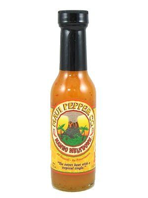 "Maui Pepper Co. Mango Meltdown Hot Sauce – (Three ""3"" Pack Of 5 Oz. Bottles)"