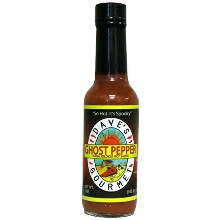 "Dave's Gourmet Ghost Pepper Naga Jolokia Hot Sauce - (Three ""3"" Pack of 5 Oz. Bottles)"