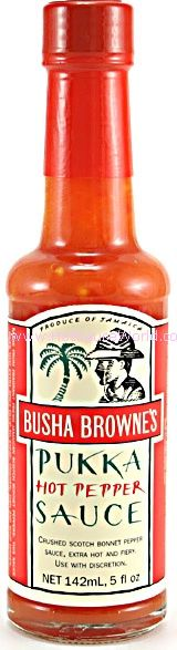"Busha Browne's Pukka Hot Pepper Sauce - (Three ""3"" Pack Of 5 Oz. Bottles)"