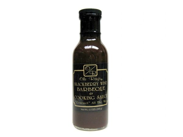 """Ole Ray's Blackberry Wine Barbeque & Cooking Sauce - (Two """"2"""" Pack of 13.5 Oz. Bottles)"""