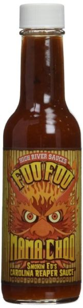 "High River Sauces Foo Foo Mama Choo Smokin Ed's Carolina Reaper Sauce – (Twelve ""12"" Pack Of 5.4 Oz. Bottles)"