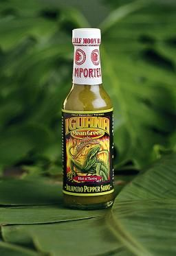 "Iguana Mean Green Jalapeño Pepper Sauce - (Three ""3"" Pack Of 5 Oz. Bottles)"