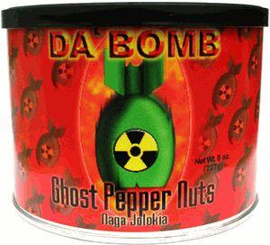 "Da Bomb Ghost Pepper Nuts – Naga Jolokia - (Three ""3"" Pack Of 8 Oz. Cans)"