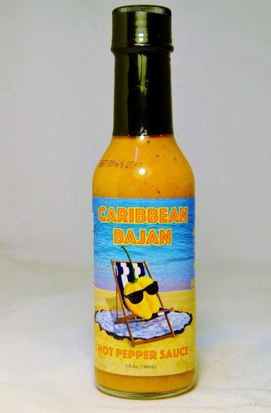 Caribbean Bajan Hot Pepper Sauce (Single 5 Fl. Oz. Bottle)