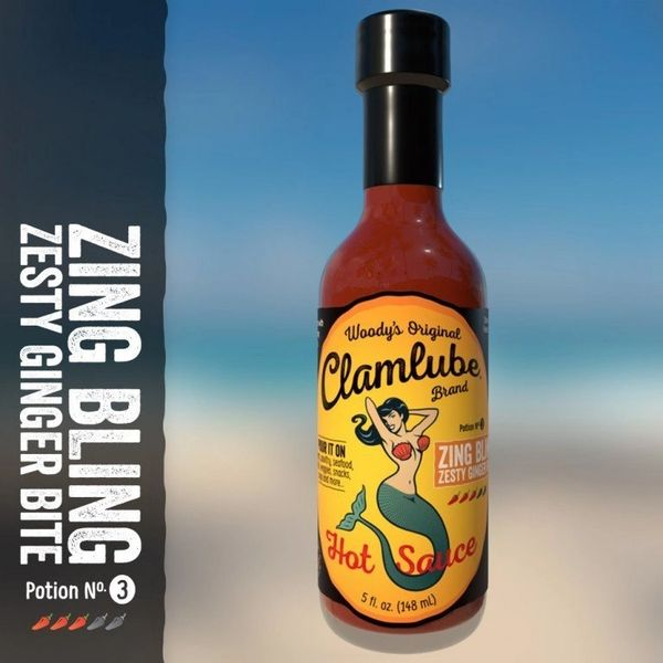 Woody's Clamlube Potion No. 3 Zing Bling Zesty Ginger Bite Hot Sauce - (3 Pack)