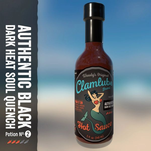 Woody's Clamlube Potion No. 2 Authentic Black Dark Heat Soul Quench Hot Sauce (3 Pack)
