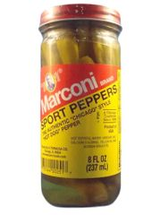 "Sport Peppers By Marconi 8 oz - (Two ""2"" Pack of 8 Oz. Bottles)"
