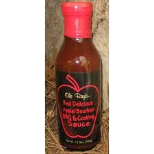 """Ole Ray's Red Delicious Apple/Bourbon BBQ & Cooking Sauce - (TWO """"2"""" Pack Of 12 Oz. Bottles)"""
