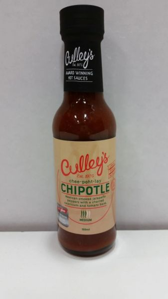 "Culley's CHEE – POWT – LAY Chipotle Hot Sauce – (Three ""3"" Pack)"
