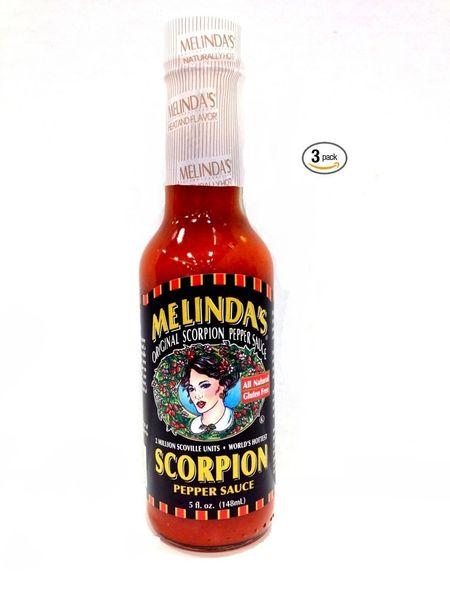 "Melinda's Scorpion Pepper Sauce - (Three ""3"" Pack Of 5 Oz. Bottles)"
