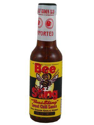 """Bee Sting """"Thai Sting"""" Sweet Sauce Chili Ginger Garlic Honey Chili – (Three """"3"""" Pack Of 5 Oz. Bottle)"""