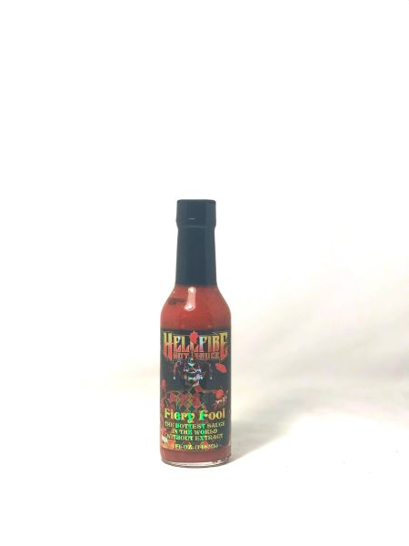 Hellfire Hot Sauce Fiery Fool - The Hottest Sauce In The Universe Without  Extract (3 pack)