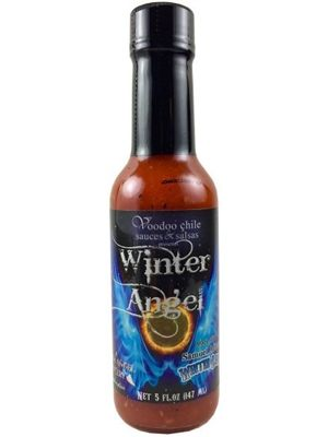 "Voodoo Chili Winter Angel Hot Sauce made with Samuel Adams Winter Lager Beer - (Three ""3"" Pack Of 5 Oz. Bottles)"