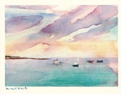 "6 greeting cards, 2 each of ""Goose Rocks Beach, Maine""; ""Untitled"" & ""Above the Clouds on Figueroa Mountain"""