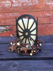 wagon wheel - Candle Holder Copper
