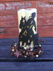Barrel Racer - Candle Holder