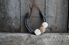 Lucky Horseshoe- Burlap Flowers