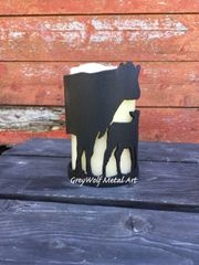 Cow calf Pair - Candle Holder