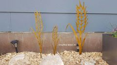Set of 3 Wheat Sheaves in gold