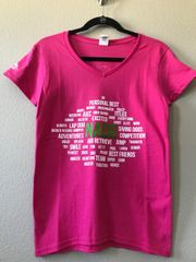 Word Bubble V-Neck Tee (Ladies)