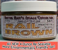 Rail Brown Weathering Stain-4oz Doctor Ben's Scale Consortium