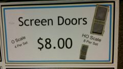 Screen Doors HO and O Scale