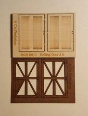 O Scale Rolling Crossbuck Freight Door (2) Per Pkg