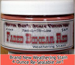 Faded Boxcar Red Weathering Stain-4oz Doctor Ben's Scale Consortium