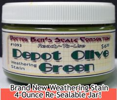Depot Olive Green Weathering Stain-4oz Doctor Ben's Scale Consortium
