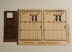 O Scale Rolling Plank Door (2)per set