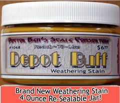 Depot Buff Weathering Stain-4oz Doctor Ben's Scale Consortium