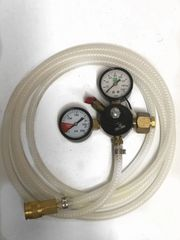 CO2 Regulator with Lines and Quick Connect Hookup