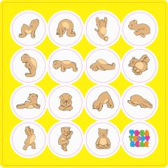 Yoga Teddy Bear Sticker Sheets