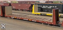 Scaletrains.com Ho Scale BSC F68AH Bulkhead Flatcar, Trailer Train/Oxide Red *Pre-order*