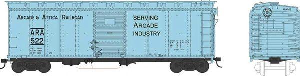 Bowser Ho Scale Arcade & Attica RR 40ft Boxcar *Pre-order*