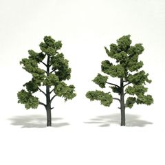 "Woodland Scenics 5-6"" Light Green Premium Trees 2/Pk"