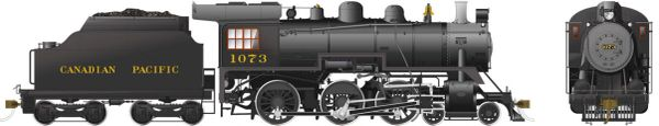 Rapido Ho Scale Canadian Pacific D10k 4-6-0 #1073 DCC Ready *Reservation*