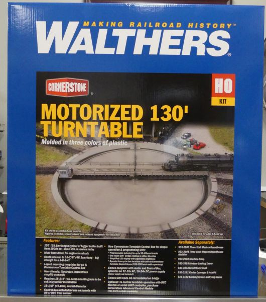 Walthers Cornerstone HO 130' Motorized Turntable