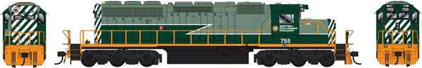 Bowser Ho Scale SD40-2 (3rd Release) BC Rail Two Tone Green Scheme DCC & Sound *Pre-order*