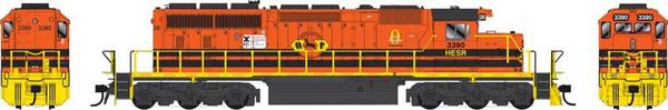 Bowser Ho Scale SD40-2 (3rd Release) HESR/Marquette DCC Ready *Pre-order*