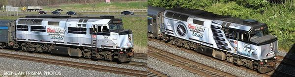 "Rapido Ho Scale Via Rail F40PH-2D #6408 & 6445 F40PH ""Coors Light Silver Bullet Express DCC & Sound"