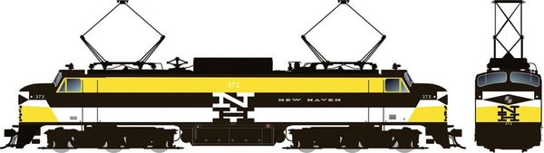 Rapido HO Scale EP-5 Electric New Haven – Experimental Yellow (W/ Vents) DCC & Sound *Pre-order*