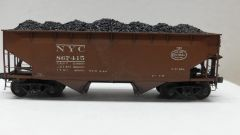 Kadee Custom 50 Ton AAR Standard 2 Bay Offset Open Hopper New York Central #867415