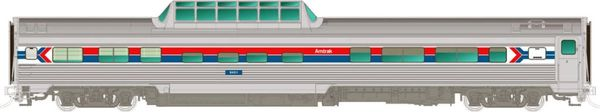 Rapido Ho Scale Budd Mid Train Dome Cars Amtrak