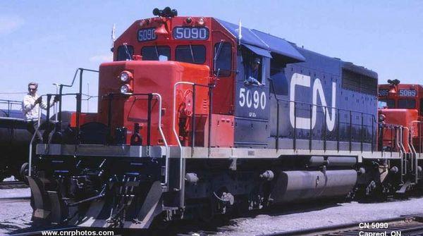 Bowser Ho Scale SD40 CN Noodle, W/ Snow Shields, 2 Class Lights W/O Dynamic Brake & Ditchlights, DCC & Sound *Pre-order*